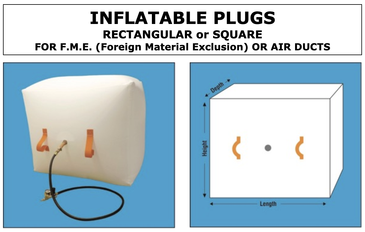 Inflatable Plugs for Air Ducts